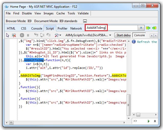 IE 11 Developer Tools Bug Microsoft Connect