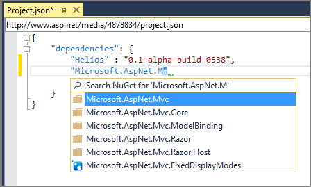 NuGet Intellisense