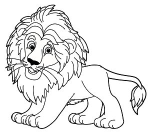 Vision Analyze Lion Drawing